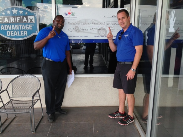 Doug & Tim telling the world that we're the #1 New and Used Car Dealer in Oklahoma.